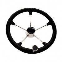 "PRODUCT IMAGE: STEERING WHEEL 15""1/2 BK"